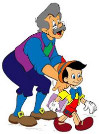 Gepeto manda Pinóquio para a escola
