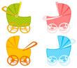 vários carrinhos de bebê