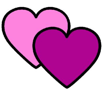 corações entrelaçados