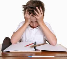 criança stressada