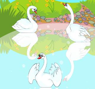 O patinho feio descobre que é um cisne