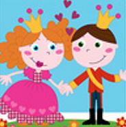 princesa e príncipe
